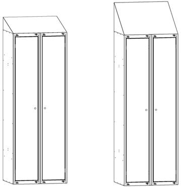 шкафы с наклонной крышей